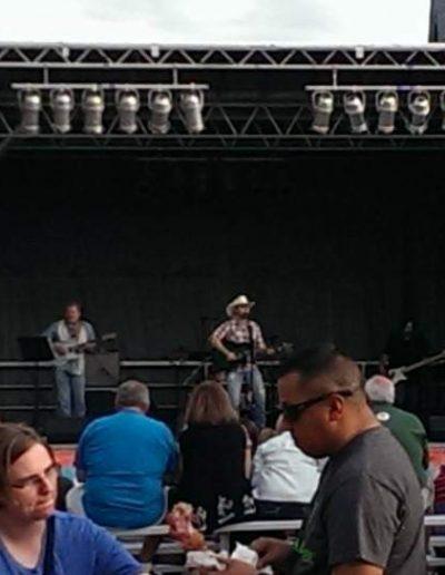 Jamie Brabham on stage Clarksville TN festival
