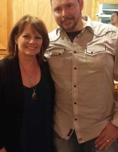 Jamie Brabham with Kathie Bailie