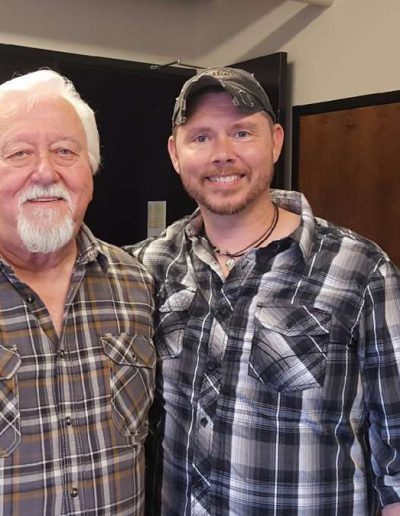 Jamie Brabham with Opry musician Jimmy Capps